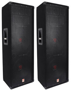 2-Rockville-RSG12-2-Dual-12-2000-Watt-3Way-4-Ohm-Passive-DJ-Pro-Audio-Speaker
