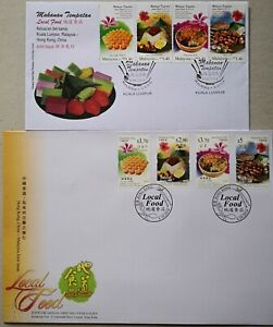Malaysia FDC with Stamps (09.10.2014) - Local Food : Joint issue with Hong Kong
