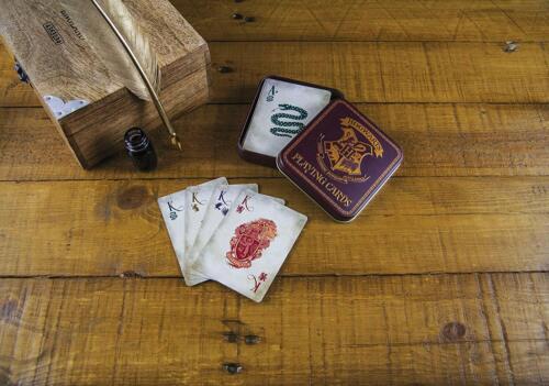 Harry Potter Poudlard Jeu de Cartes Boite De Rangement en Métal Idée Cadeau