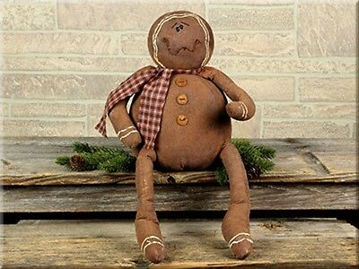 Primitive``Sitting Gingerbread Man Doll `Honey and Me`Retail $39.00`Sale