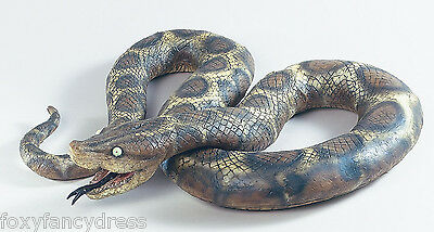 7' Python Large Rubber Scary Realistic Snake Halloween Prop Fancy Dress