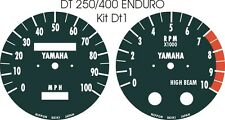 CT3 DT125 DT175 MX DT250 DT400 DT1 RT360 RT3 YAMAHA SPEEDO TACHO CLOCKS OVERLAYS