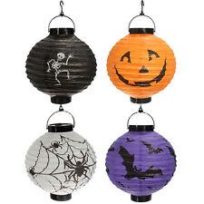 4x Halloween-Kuerbis Spinne Fledermaus Skelett Lampe Lampions Dekoration Pa H5Q4