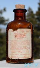 Scarce ORIGINAL antique POISON pill bottle EMBOSSED w/ LABEL scarce LARGER SIZE