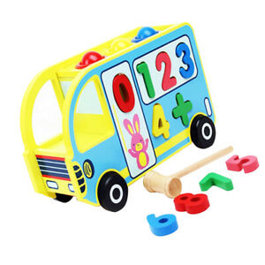 Shape-Sorting-Bus-Classic-Wooden-Sorter-Toy-Pounding-Toys-with-Wood-Hammer