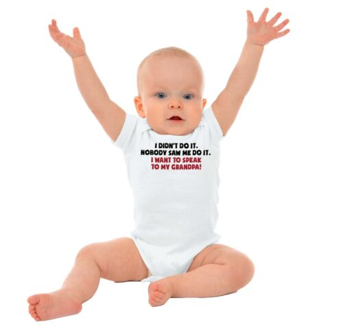 Cute Funny Grandpa Lawyer Gerber OnesieAdorable Troublemaker Baby Romper