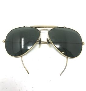 cb8750c1a0 VINTAGE 58 14MM BAUSCH   LOMB RAY BAN USA AVIATOR SUNGLASSES B25
