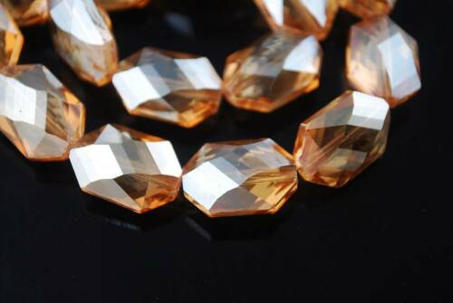 10pcs 18x13mm Faceted Glass Crystal Oval Octagon Loose Spacer Beads À faire soi-même Making
