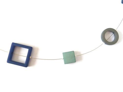 120 cm lang Blautöne ADI-Modeschmuck DAMEN-HALSKETTE 2222-6