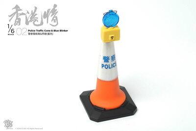 Blue Blinker 1//6th Scale ZCWO Hongkong Street scene NO.02 Police Traffic Cone