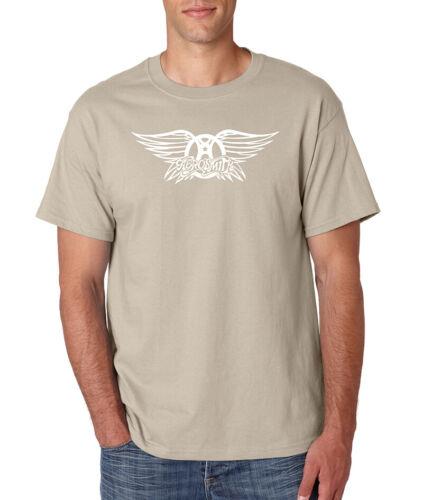 AEROSMITH Wings Logo T-Shirt Vintage Classic Rock Band Steven Tyler Gildan Tee
