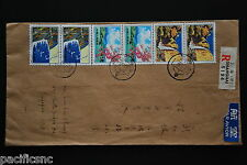 China PRC T42 Scenery of Taiwan 8f x 4, 55f x 2 on Cover - Reg'd to Singapore