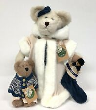 Boyds Bears & Friends Holiday Plush Bears 3pc QVC Exclusive Ingrid Tasha Toggle