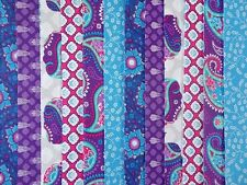 24 JELLY ROLL STRIPS 100% COTTON PATCHWORK FABRIC INDIAN GARDEN 22 INCH LONG
