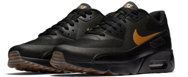 the best attitude 93b02 346a1 Nike Air Max 90 Ultra 2.0 Essential Black Gold Gum Sz 8 875695-016 OG *RARE*