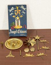 VINTAGE BRASS SWEDISH ANGEL CANDLE CHIMES CHRISTMAS DECORATION & ORIGINAL BOX