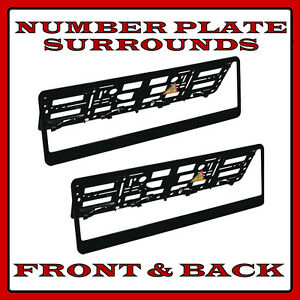 2x Delux Chrome Car Custom Number Plate Licence Holder Mercedes E-Class W211