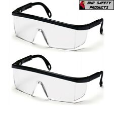 2 Pcs Clear Lens Safety Goggles Glass Work Lab Protective Chemical Over Glasses