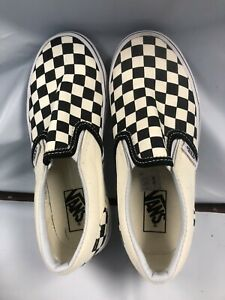 Vans Black/Off White Checkered Slip On