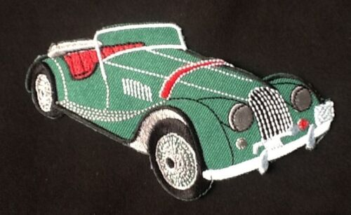 CLASSIC BRITISH SPORTS CAR MG MIDGET MORGAN BADGE IRON SEW ON PATCH