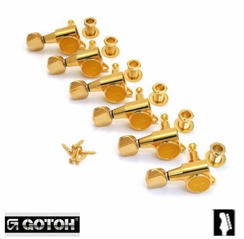 Gotoh LEFTY Gold Sealed 6 Inline Mini Tuners for Strat//Tele® Guitar TK-0760-L02