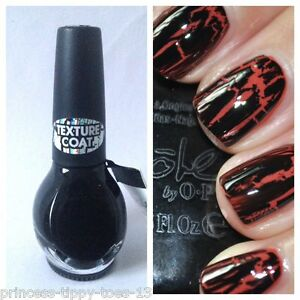 Details about NICOLE by OPI nail polish lacquer in black texture - 15ml  o.p.i