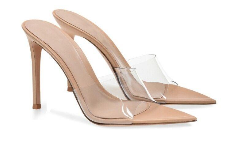 Chaussures femme talons hauts été talons aiguilles clair Chaussons Party Club Pantoufles Chaussures Taille