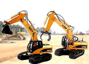 Full-Functional-DIE-DAST-Remote-Control-Excavator-Tractor-Timber-Graber-ToyTruck