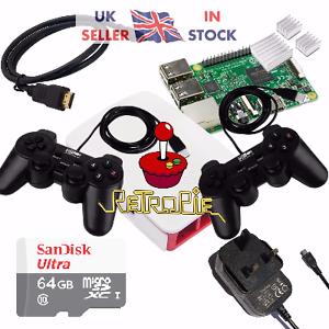 Details about RetroPie Raspberry Pi 3 Retro Games arcade Console - 64gb