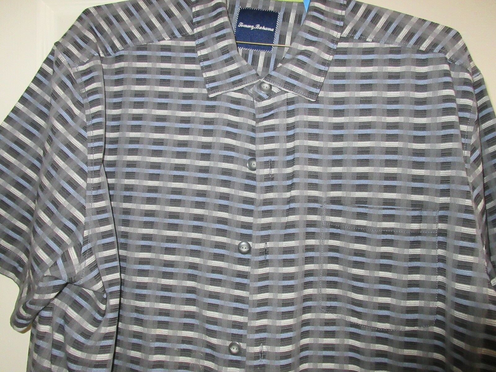 Tommy Bahama Men's Short Sleeve Shirt , XL/TG , 55% Sil