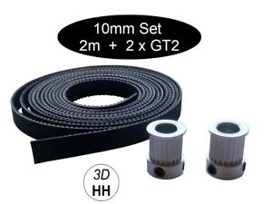 10mm GT2 Set: 2 x GT2 Pulley + 2m GT2 Band Versand gleicher Tag