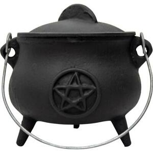 5-5-Inch-Cast-Iron-Pot-Belly-Pentacle-Cauldron-with-Lid