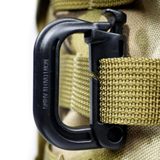 New D Ring Shape Safety Backpack Climbing Caving Clip Hook Buckle Lock Carabiner