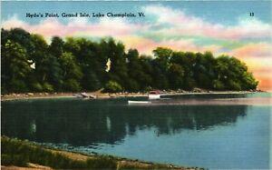 Vintage Postcard - Hyde's Point Grand Isle Lake Champlain Vermont VT#4801
