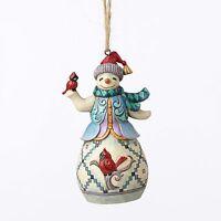 Enesco Heartwood Creek Christmas Jim Shore Snowman W/ Cardinal Ornament 4053840