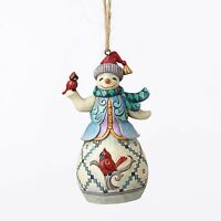 Enesco Heartwood Creek Christmas Jim Shore Snowman W/ Cardinal Ornament 4053840