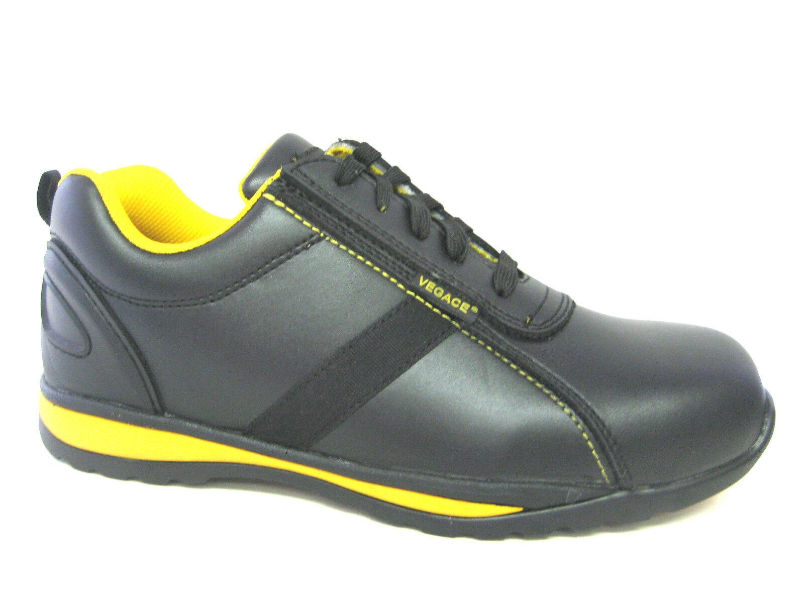 Vegace Men Composite SAFETY TOE Lightweight Leather Work shoes Oil Slip Resistant