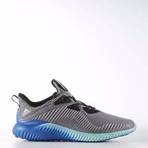 Adidas Men 's Originals ALPHABOUNCE Running Shoes Grey Onyx Aqua BB9035 Sz 10.5