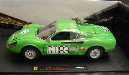 Hot Wheels Elite 1 18 Ferrari Dino 246 GT 1000 kilometres nuburgring 1971 t6260