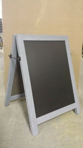 14kgs SANDWICH 100cm x 72cm CHALKBOARD BLACKBOARD PAVEMENT SIGN  -GREY