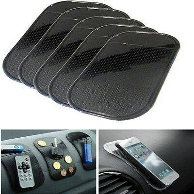 Lot 5pcs Black Car Dashboard Sticky Pad Anti-Slip Non-slip Mat for Cellphone Key