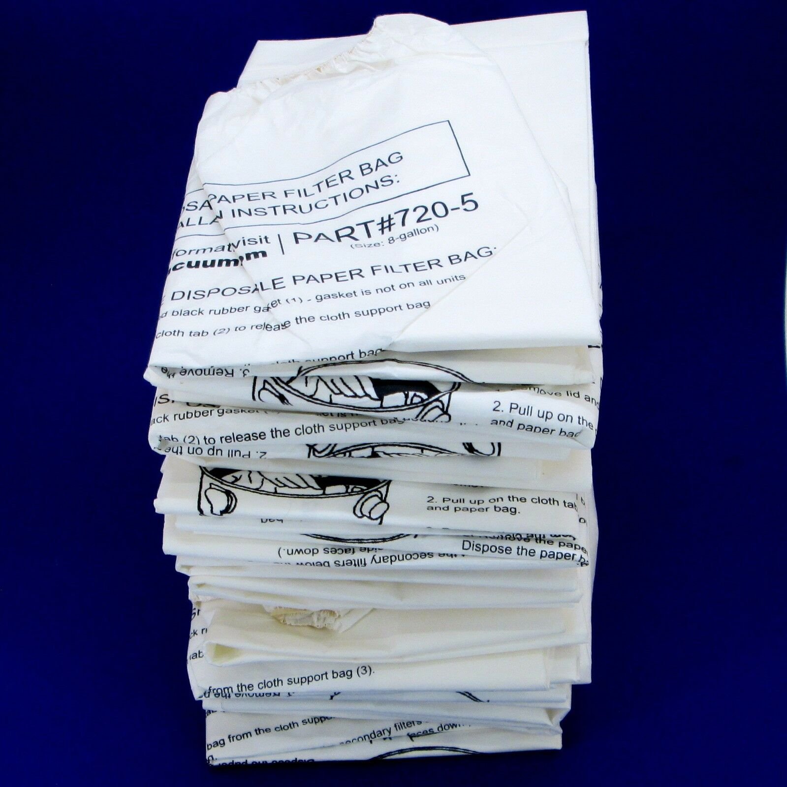 Lot of 15 MD Modern Day 8 gallon 720-5 Central Vacuum System Bags