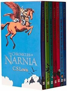 The-Chronicles-of-Narnia-7-Book-Box-Set-by-CS-Lewis-Children-Gift-Set-Kids-NEW
