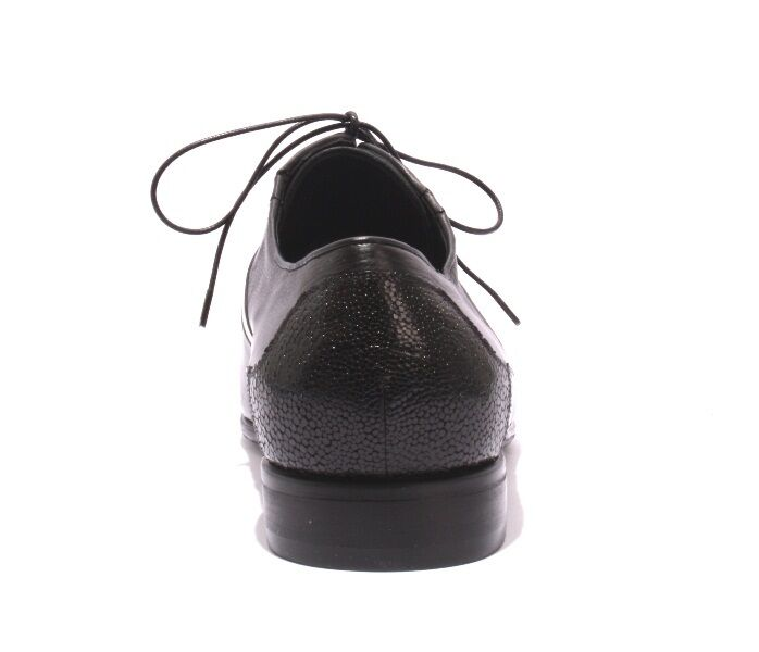 Vinicio Camerlengo 8345 Negro Cuero Estampado Zapato Clásico Cordones Con Cordones Clásico 44/US 11 d50d16