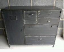 Vintage Industrial Black Sideboard Cabinet & Retro Storage Draws Urban