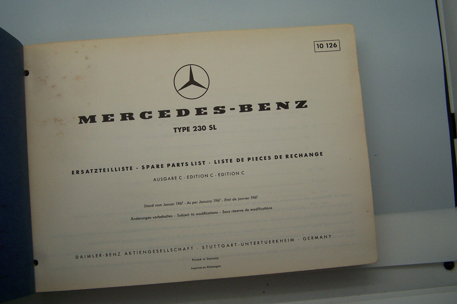 Wondrous Mercedes 230 Sl Owners Parts Manual Service W 113 Original Used 1967 Wiring Digital Resources Inamasemecshebarightsorg