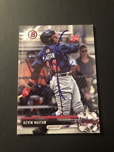 2017 Bowman Chrome Kevin Maitan Atlanta Braves Authentic Autograph COA