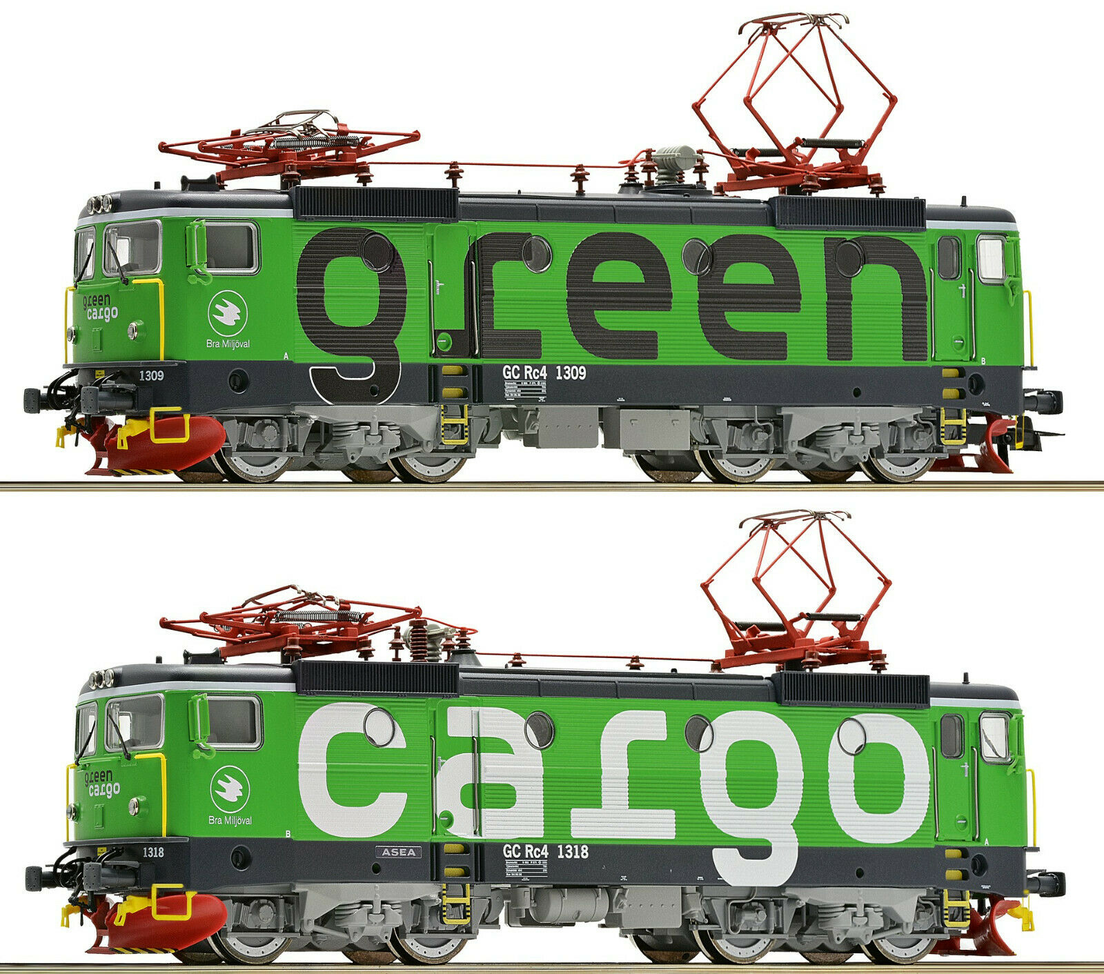 Roco h0 73457 e-Lok-set rc4 verde Cochego de la  SJ DCC digital + Sound  - nuevo + embalaje original