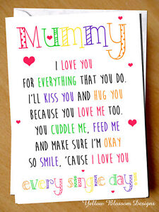 Fantastic Greeting Card Mummy I Love You Birthday Mothers Day Christmas Funny Birthday Cards Online Fluifree Goldxyz