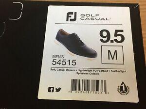 FootJoy-FJ-Golf-Casual-Spikeless-Black-Golf-Shoes-54515-9-5-Medium-New